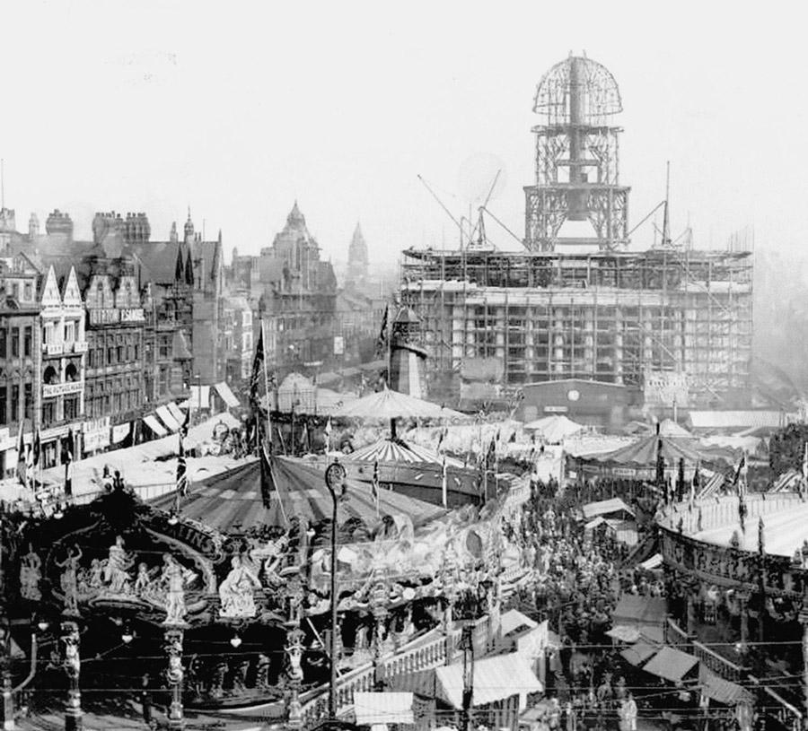 New Council House under construction, circa 1928.