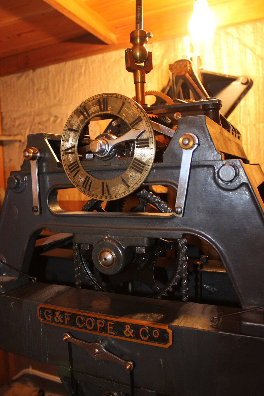 St. Mary's Church clock mechanism (photo by Richard Henley).